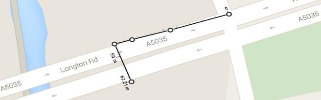 ATM & BP Garage 62m + 900m = 962m.